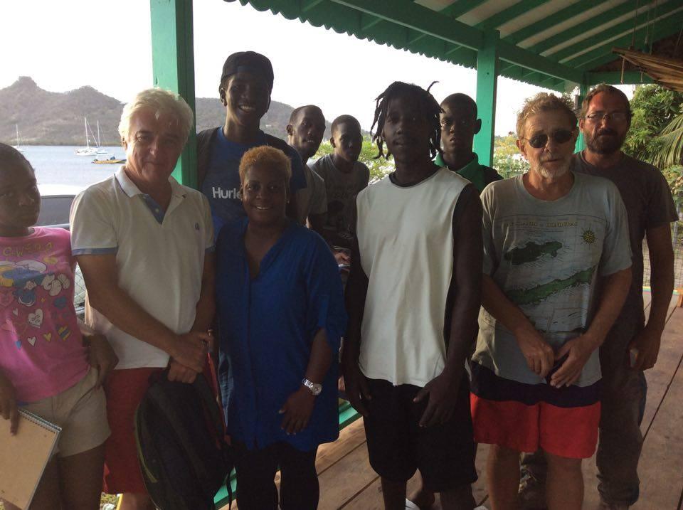 Rencontre avec les jeunes de l'île Carriacou Grenadines